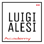 logo LUIGI ALESI academy bianco